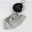 Screen cleaner keychain with glasses cloth